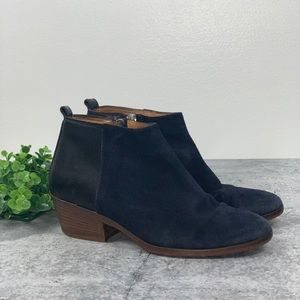Madewell Two Tone Suede Leather Booties 7
